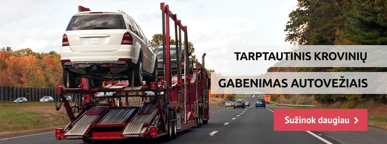 automobilių gabenimas autovežiais